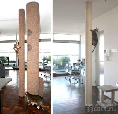 Столб - когтеточка для кошек